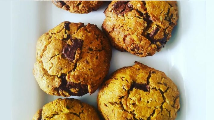Vegan Super Healthy Hazelnut Choc Chip Nutritious Cookies